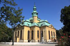 Temple in Jelenia Gora. Sanctuary of The Holy Cross in Jelenia Gora stock photos