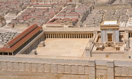 The Temple in Jerusalem or Holy Temple royalty free stock images
