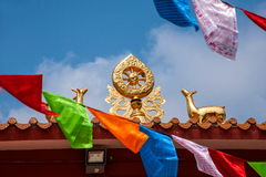 Temple Jinyu Guanyin de Sanya Nanshan Buddhist Photos libres de droits