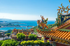 Temple at Jiufen Old Street in Taipei. Taiwan royalty free stock photography
