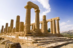 Temple of Juno. In the Valley of Temples, Agrigento, Sicily royalty free stock photos