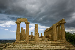 Temple of juno, agrigento, sicily Stock Photos