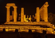 Juno Temple in Agrigento archaeological park Royalty Free Stock Photos