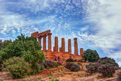Temple of Juno - ancient Greek landmark in the Valle dei Templi Royalty Free Stock Photography