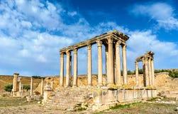 Temple of Juno Caelestis at Dougga, an ancient Roman town in Tunisia Stock Photography
