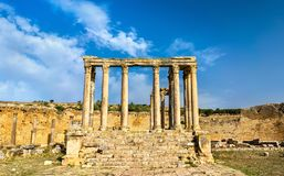 Temple of Juno Caelestis at Dougga, an ancient Roman town in Tunisia Stock Photos