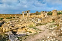 Temple of Juno Caelestis at Dougga, an ancient Roman town in Tunisia Stock Images