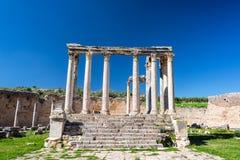 Temple of Juno Caelestis. In the Roman ruins of Dougga, Tunisia royalty free stock photos
