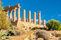 The temple of Juno, in the Valley of the Temples of Agrigento Stock Image