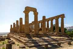 Temple of Juno in the Valley of Temples - Agrigento, Sicily, Italy Royalty Free Stock Photo
