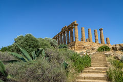 Temple of Juno in the Valley of Temples - Agrigento, Sicily, Italy Royalty Free Stock Image