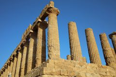 Temple of Juno at Valley of Temples in Agrigento Royalty Free Stock Photos