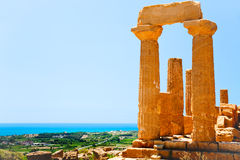 Temple of Juno in Valley of the Temples, Sicily stock photography