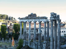 The Temple of Jupiter in the Ancient Forum of the city of Rome Italy Royalty Free Stock Images