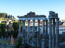 The Temple of Jupiter in the Ancient Forum of the city of Rome Italy Stock Photography