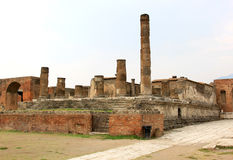 Temple of Jupiter in ancient Pompei, Foro, Italy Stock Image