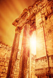 Temple of Jupiter ancient roman city Stock Images