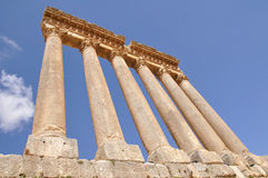 Temple of Jupiter in Baalbek Stock Photos