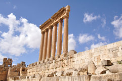 Temple of Jupiter in Baalbek Stock Images