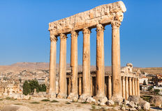 Temple of Jupiter in Baalbek ancient Roman ruins, Beqaa Valley of Lebanon. Royalty Free Stock Photos