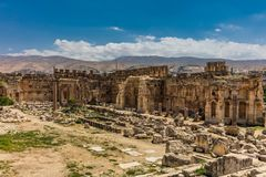 Temple of Jupiter romans ruins Baalbek Beeka Lebanon Stock Photos