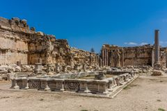 Temple of Jupiter romans ruins Baalbek Beeka Lebanon Royalty Free Stock Image