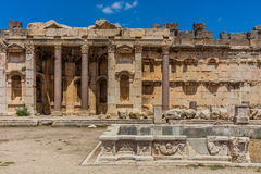 Temple of Jupiter romans ruins Baalbek Beeka Lebanon Stock Photography