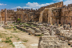 Temple of Jupiter romans ruins Baalbek Beeka Lebanon Royalty Free Stock Photography