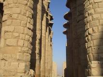 Temple of Karnak carved block pillars Royalty Free Stock Images