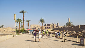 Temple of Karnak, Egypt Stock Photos