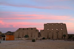 The temple of Karnak in Egypt Stock Images