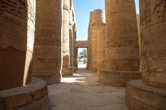 Temple of Karnak in Luxor royalty free stock photo