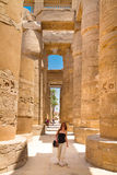 Temple of Karnak, Luxor, Egypt. Royalty Free Stock Photography