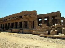 The Temple of Karnak in Luxor is the largest temple complex of ancient Egypt royalty free stock image