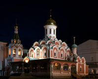 Temple of the Kazan icon. Of Divine mother Stock Photos