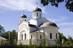 Temple of the Kazan icon of the mother of God village Lamishino Stock Photo
