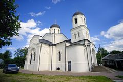 Temple of the Kazan icon of the Mother of God village Lamishino Royalty Free Stock Photo