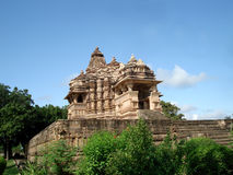 Temple at Khajuraho Stock Photo