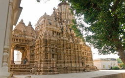 Temple in Khajuraho. Royalty Free Stock Images