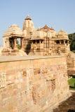 Temple of Khajuraho on India Stock Photos