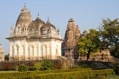 Temple of Khajuraho on India Stock Photography