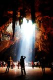 Temple in Khao Luang cave at Phetchaburi, Thailand Royalty Free Stock Image