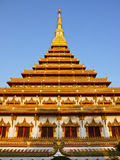 Temple in Khonkaen. Temple with blue sky,Khon Kaen, Thailand Stock Photography