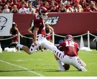 Temple kicker Brandon McManus kicks Royalty Free Stock Photo