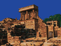 Temple in Knossos, Crete, Greece vector Royalty Free Stock Image