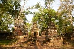 Temple Koh Ker Complex de landau de Prasat Image stock