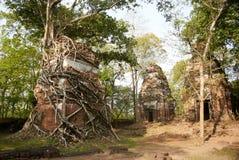 Temple Koh Ker Complex de landau de Prasat Photos stock