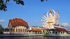 Temple Koh Samui, Thaïlande, Asie de Wat Plai Laem banque de vidéos