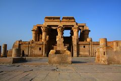 The temple of Kom Ombo in Egypt Stock Image