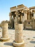 Temple of Kom Ombo, Egypt: column hall Royalty Free Stock Photos